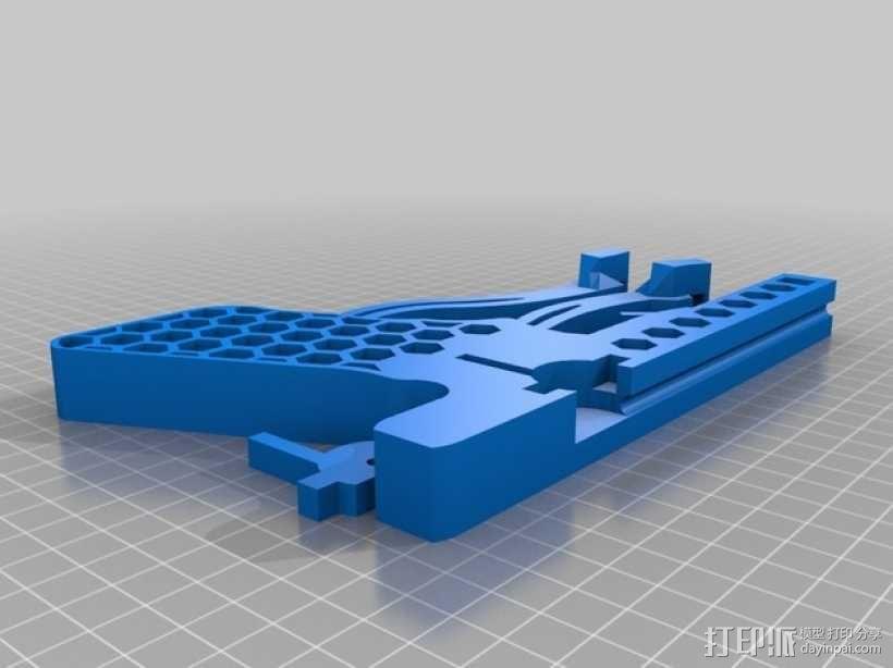 皮筋驱动十字弓 3D模型  图5