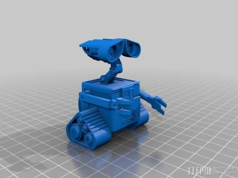 机器人瓦力 3D模型  图4