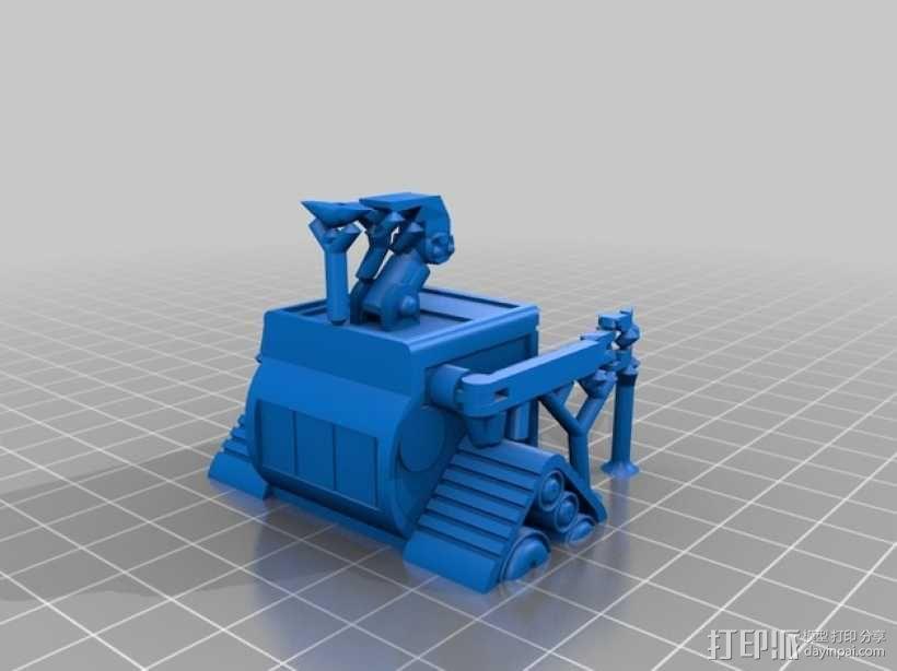 机器人瓦力 3D模型  图5