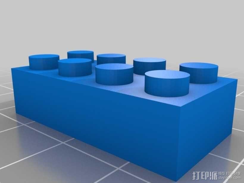 经典乐高方块 3D模型  图2