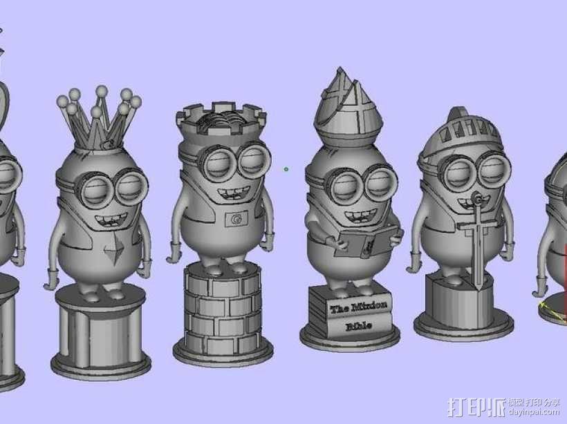 人偶象棋 3D模型  图1