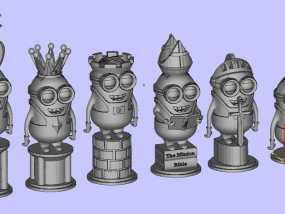 人偶象棋 3D模型