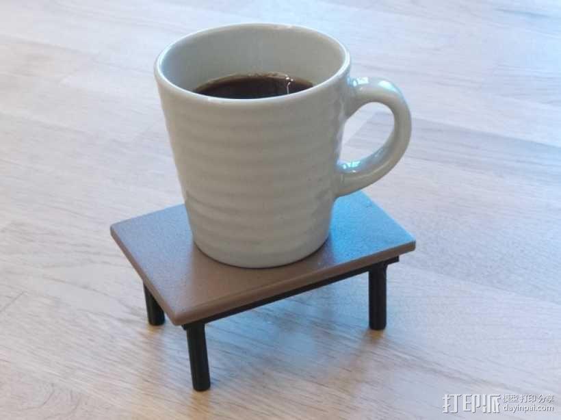咖啡杯托盘 3D模型  图1