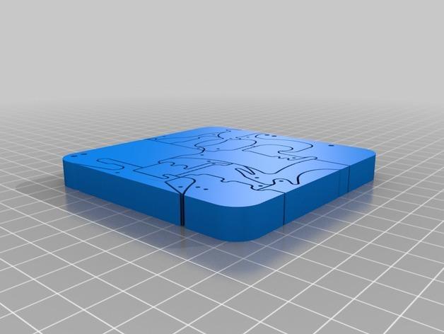动物拼图 3D模型  图3