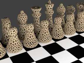 Voronoi风格象棋 3D模型