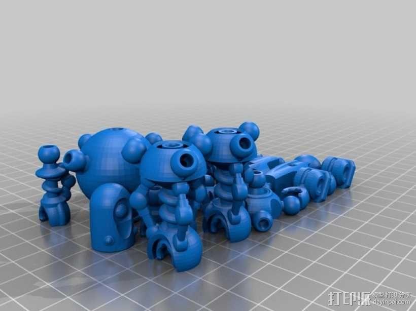蜘蛛形机器人 3D模型  图2