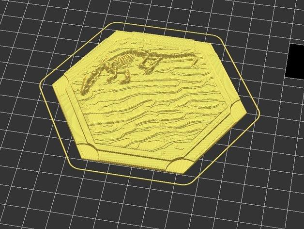 《卡坦岛》地形图 3D模型  图2