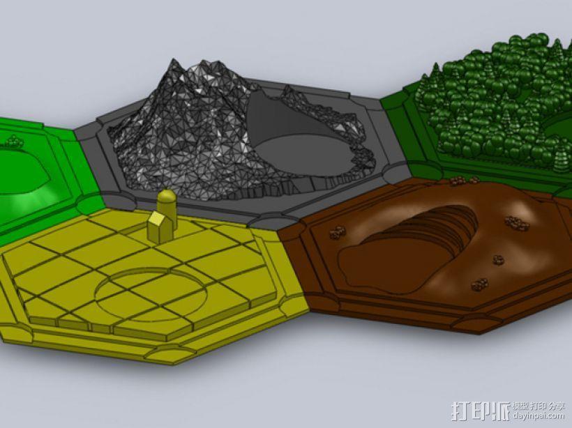 《卡坦岛》地形图 3D模型  图1