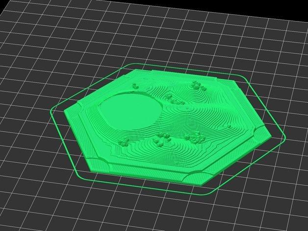 《卡坦岛》地形图 3D模型  图4