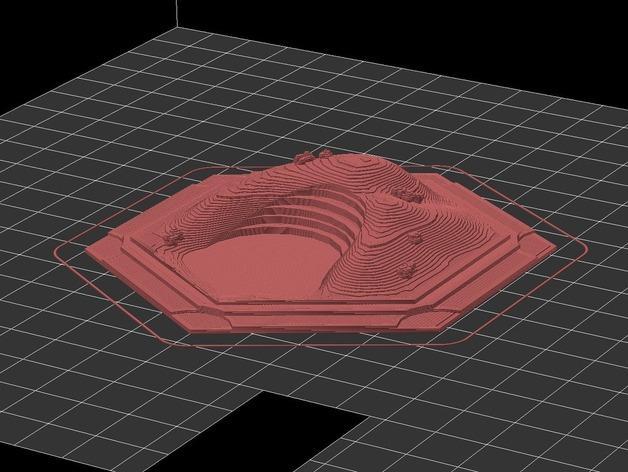 《卡坦岛》地形图 3D模型  图3
