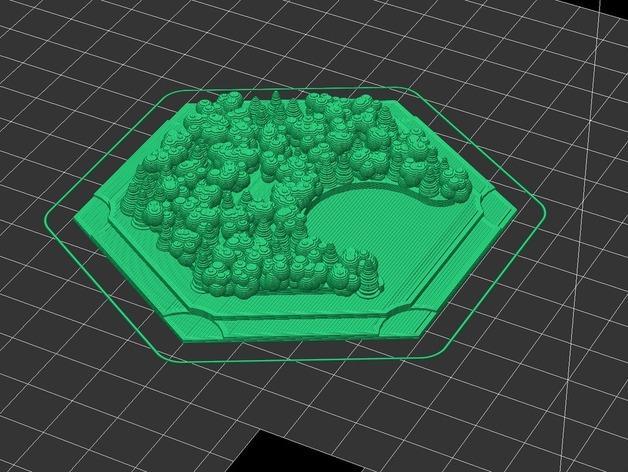 《卡坦岛》地形图 3D模型  图5
