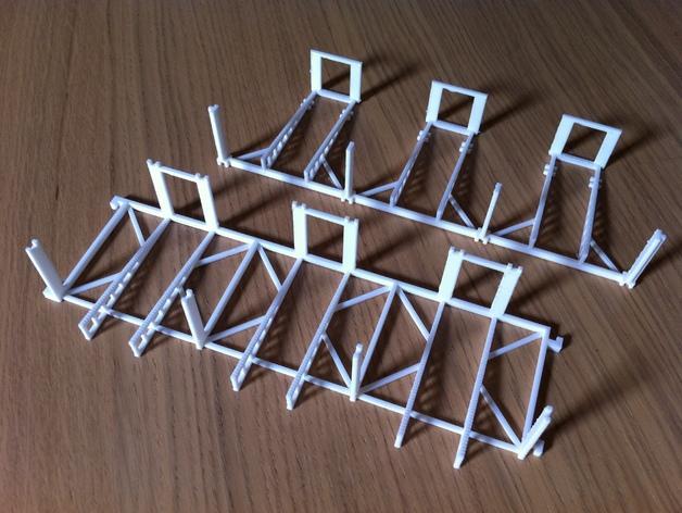 双层卡架 3D模型  图4