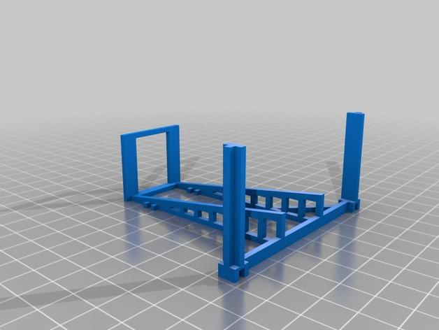 双层卡架 3D模型  图6