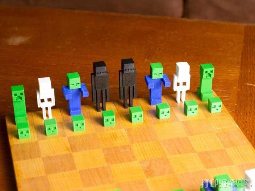 《Minecraft》系列象棋 3D模型  图1