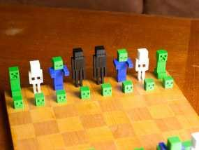 《Minecraft》系列象棋 3D模型