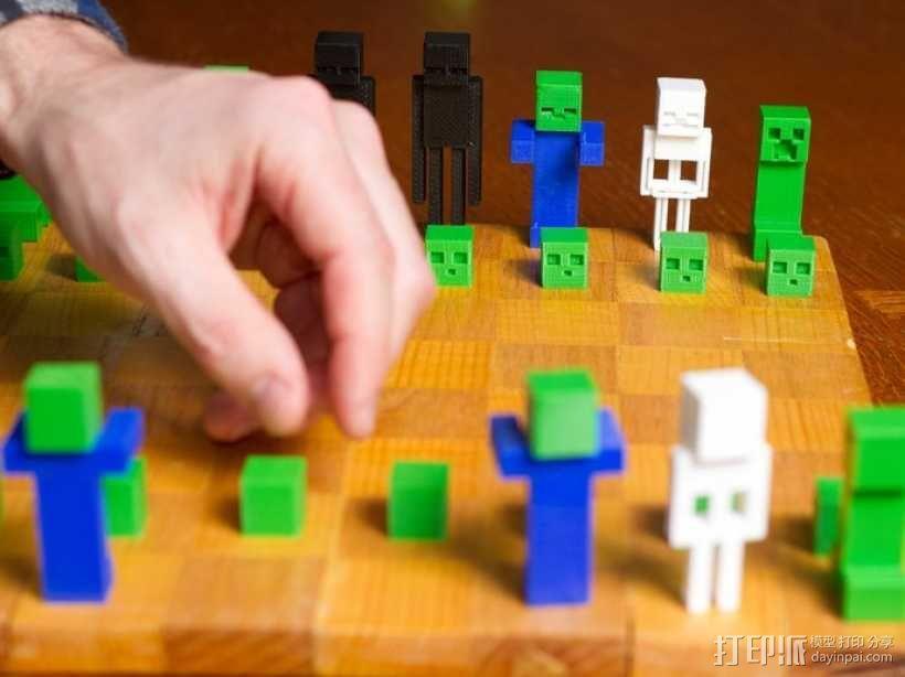 《Minecraft》系列象棋 3D模型  图3