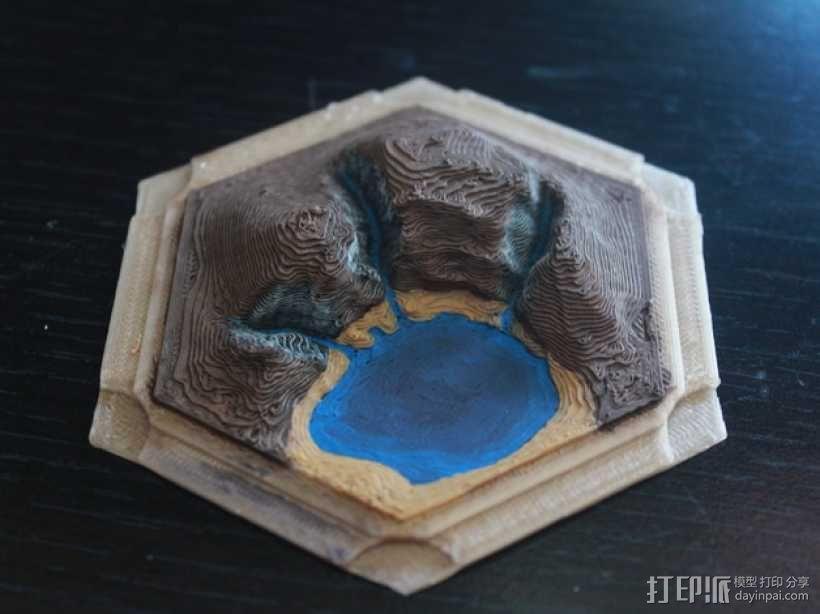《卡坦岛》地形 3D模型  图1