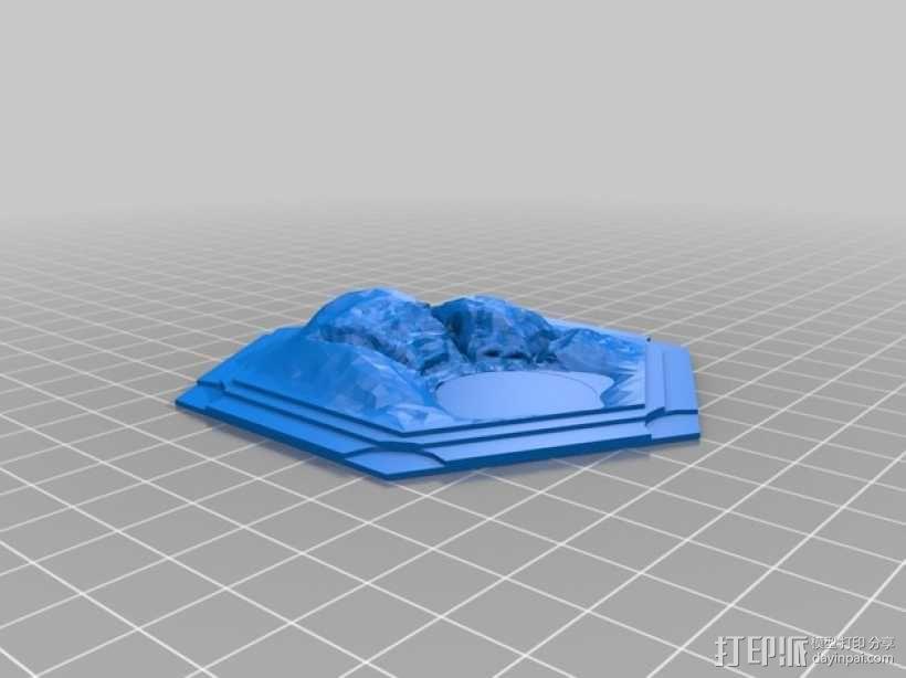 《卡坦岛》地形 3D模型  图3