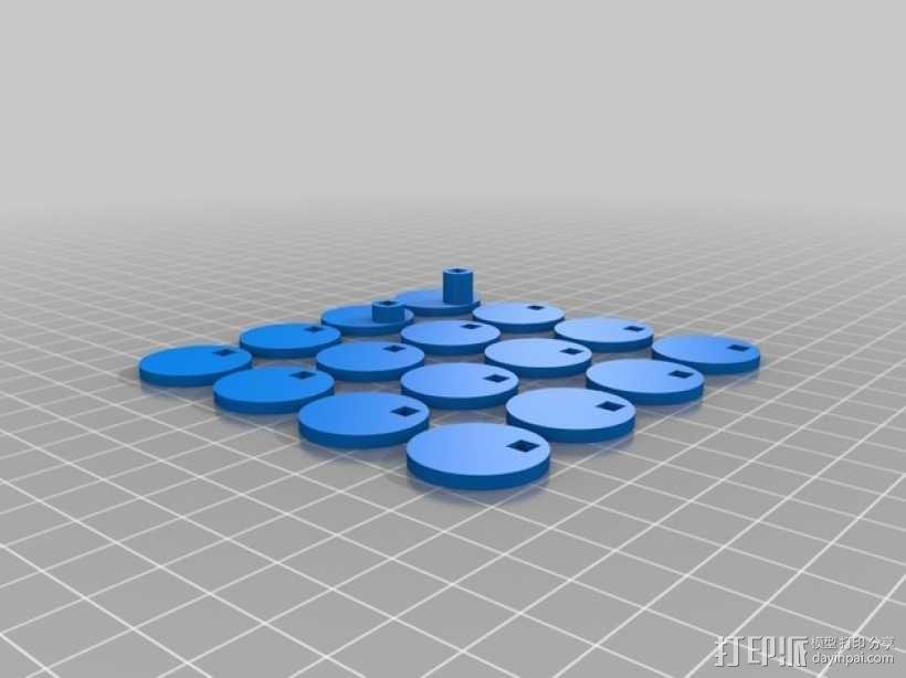 手调式连锁反应模型 3D模型  图5