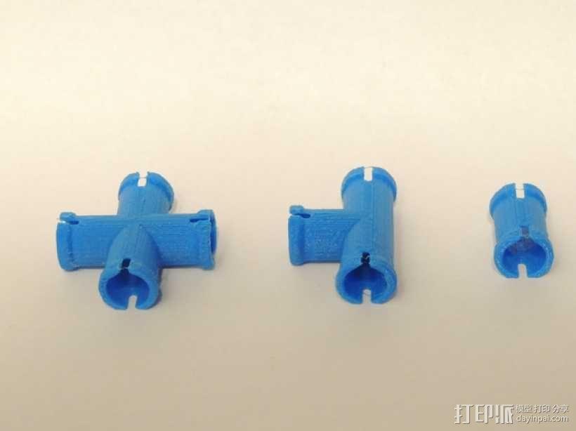 十字形接口 3D模型  图1