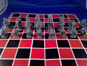 朋克风机器人棋子 3D模型