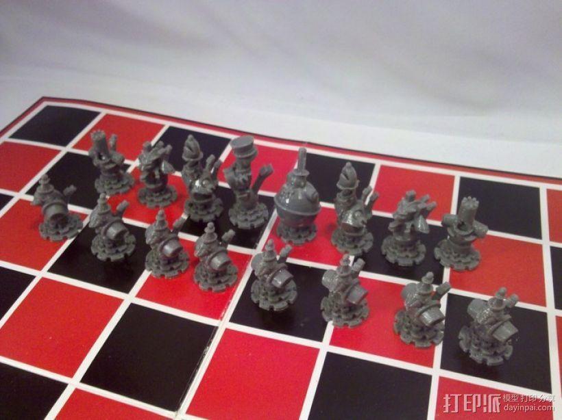 朋克风机器人棋子 3D模型  图5