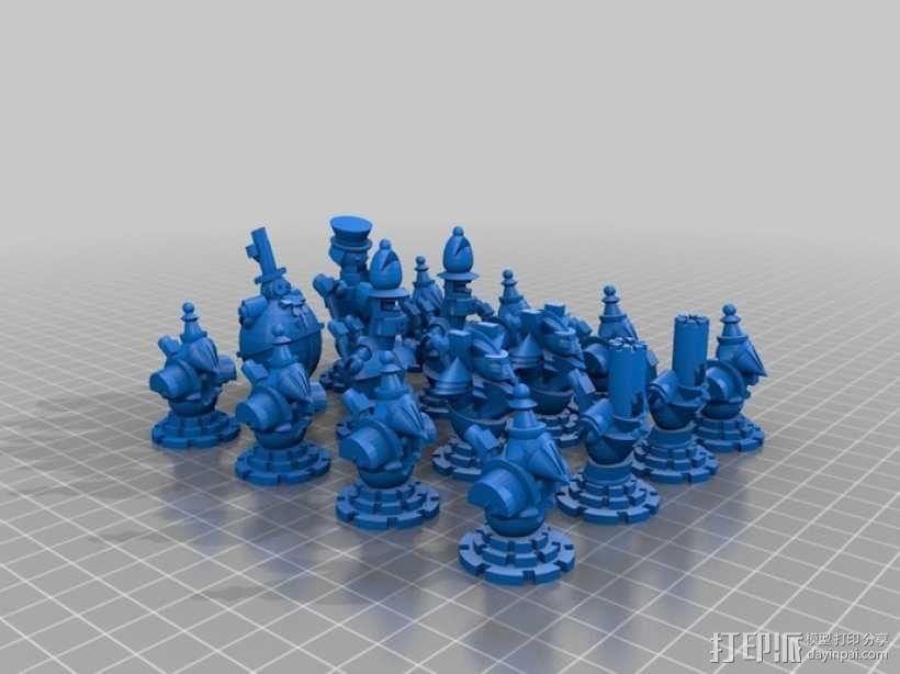 朋克风机器人棋子 3D模型  图6