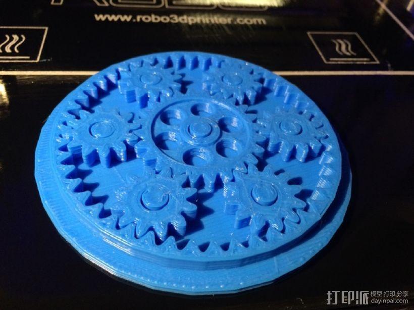 齿轮玩具 3D模型  图1