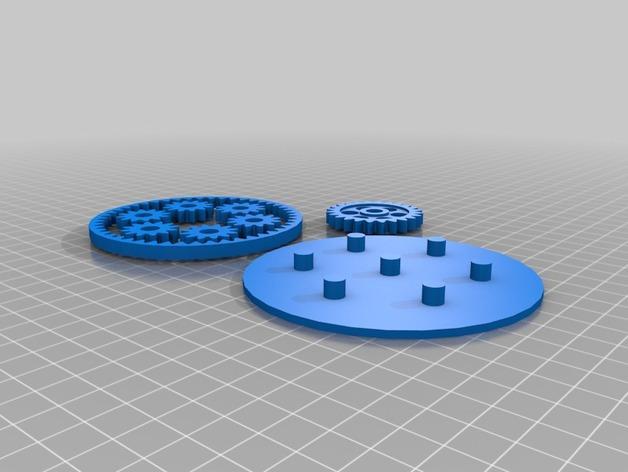 齿轮玩具 3D模型  图5