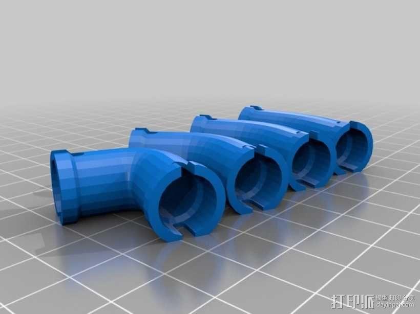 管道接头 3D模型  图2