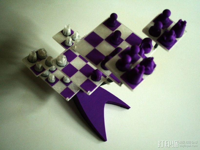 便携式象棋 3D模型  图1