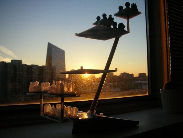 便携式象棋 3D模型  图2