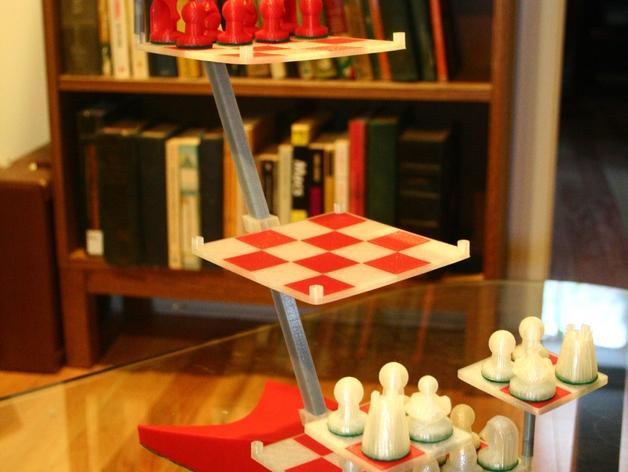 便携式象棋 3D模型  图3