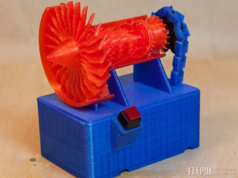 喷气式电动机 3D模型  图1