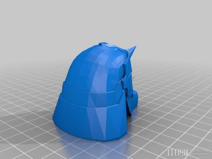 阿尔方斯头盔 3D模型  图2