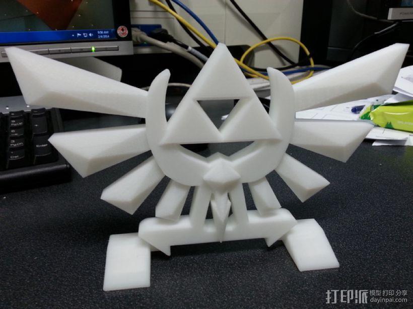 《塞尔达传说》标志 3D模型  图1