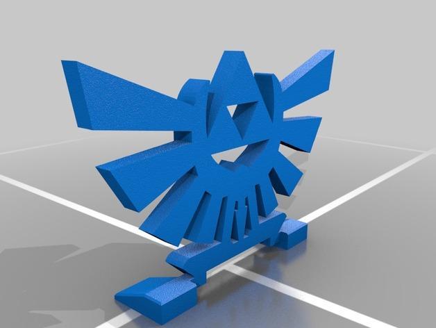 《塞尔达传说》标志 3D模型  图2
