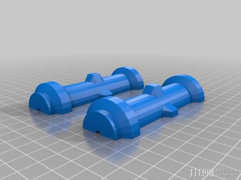 沙箱滚轴 3D模型  图2