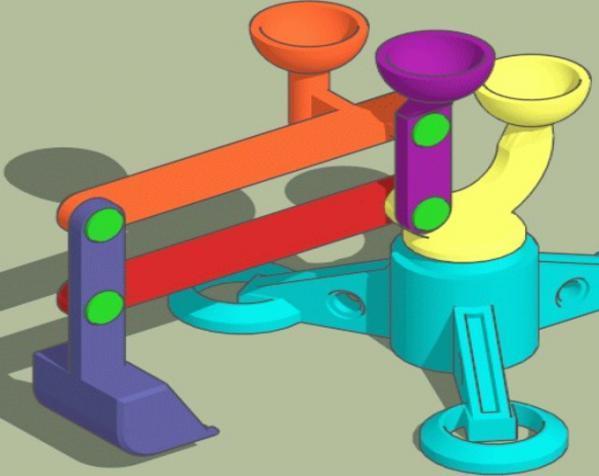 手指般大小的迷你挖掘机 3D模型  图4
