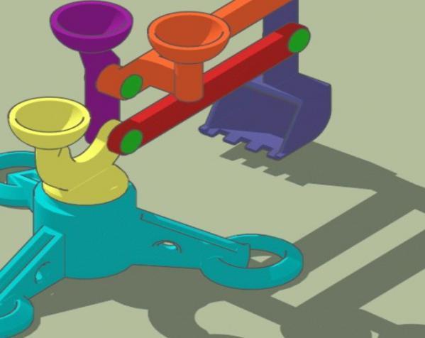 手指般大小的迷你挖掘机 3D模型  图5