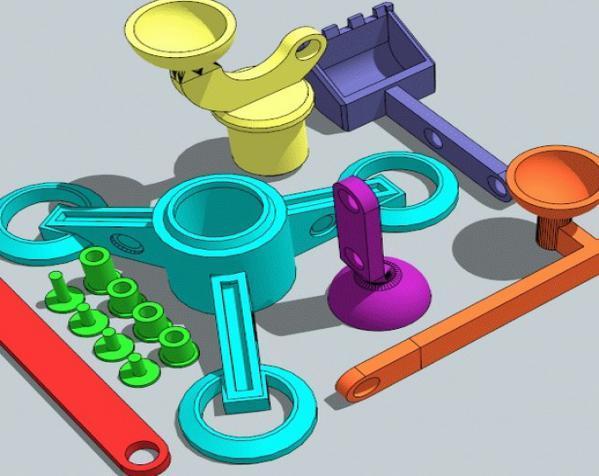 手指般大小的迷你挖掘机 3D模型  图6