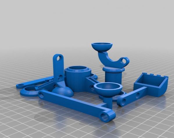 手指般大小的迷你挖掘机 3D模型  图7