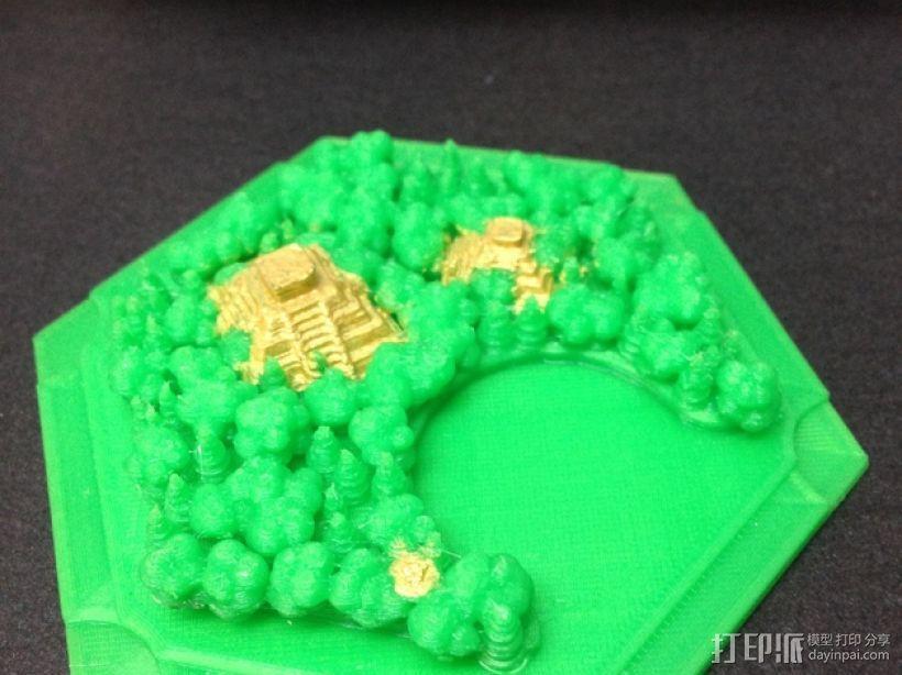 《卡坦岛》丛林 3D模型  图1