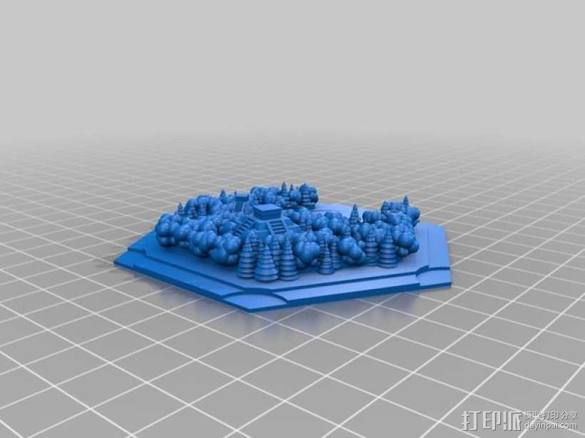 《卡坦岛》丛林 3D模型  图2