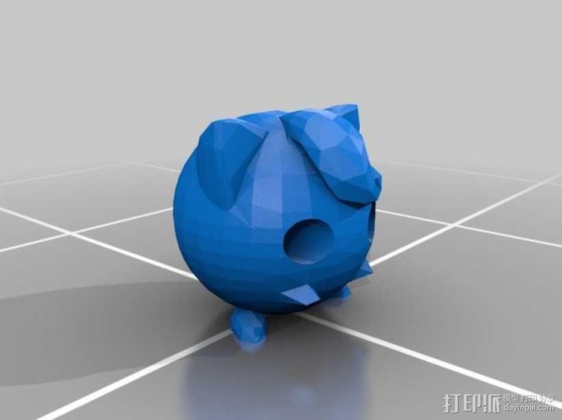 胖丁 3D模型  图3