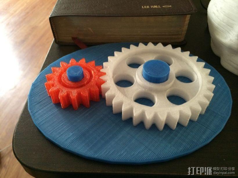 齿轮玩具1 3D模型  图1