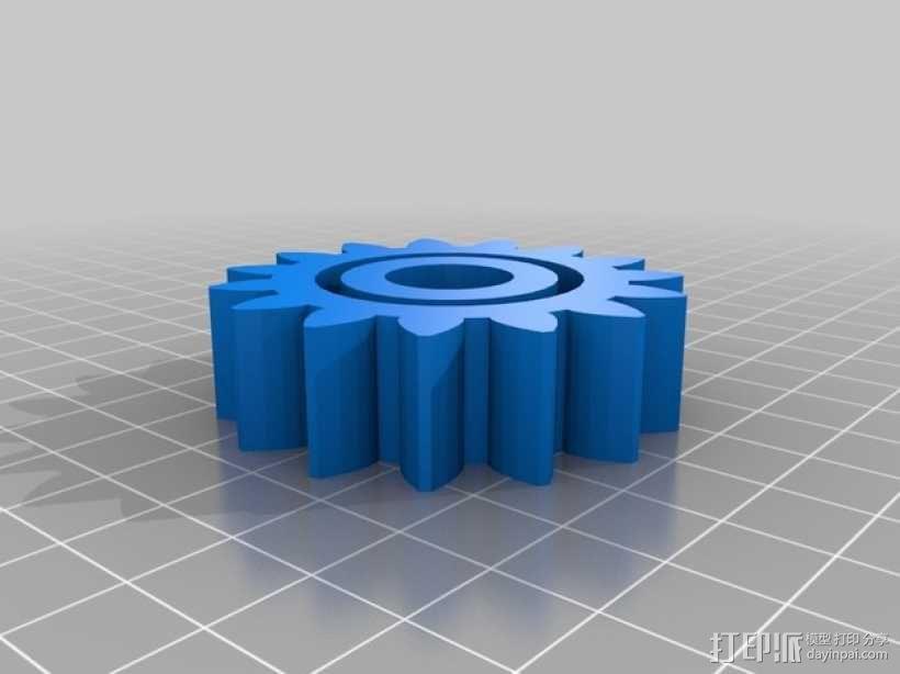 齿轮玩具1 3D模型  图4