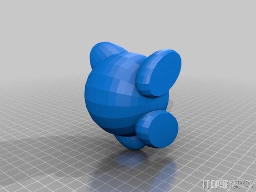 卡比玩偶 3D模型  图3