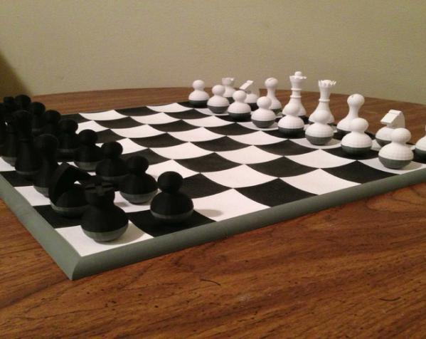 晃动的棋盘 3D模型  图2