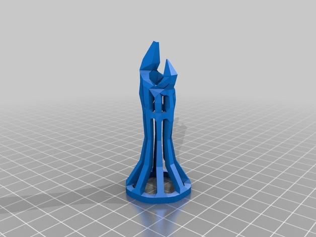 镂空象棋 3D模型  图2